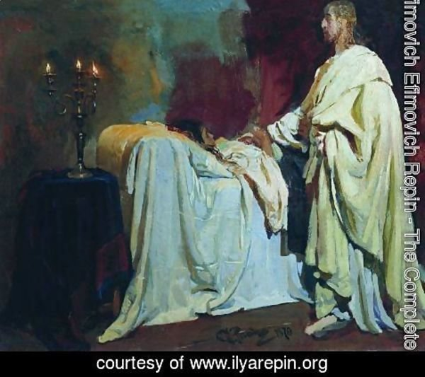 Ilya Efimovich Efimovich Repin - Raising of Jairus Daughter 2
