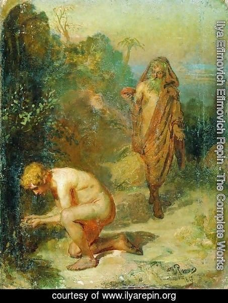 Ilya Efimovich Efimovich Repin - Diogenes and the boy