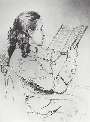 Portrait of E.G. Mamontova reading