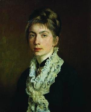 Portrait of M.P. Shevtsova, wife of A. Shevtsov