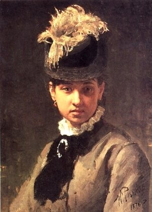 Portrait of Vera Repina, the Artist's Wife