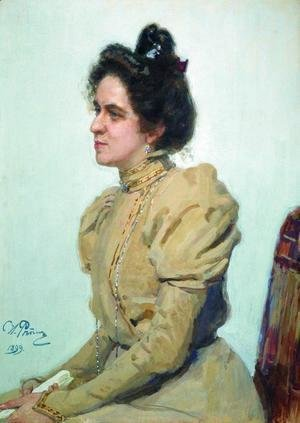 Portrait of actress Lyubov Sazonova-Shuvalova