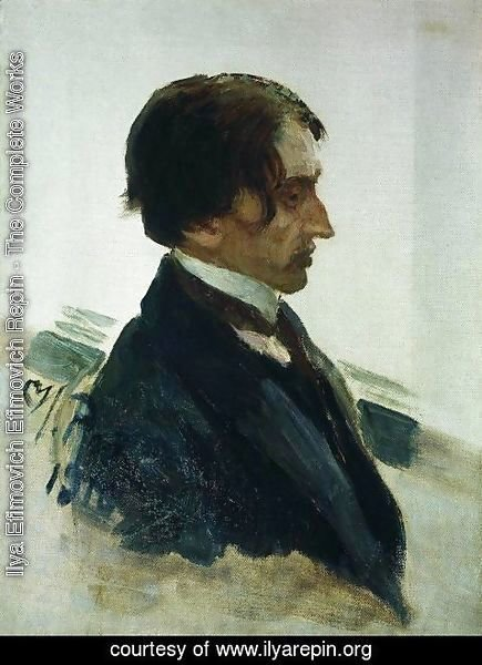 Ilya Efimovich Efimovich Repin - Portrait of the Artist Isaak Brodskiy
