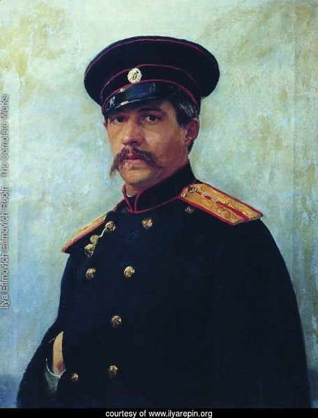 Portrait of a military engineer, Captain A. Shevtsov, brother of the artist's wife