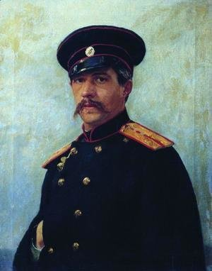 Ilya Efimovich Efimovich Repin - Portrait of a military engineer, Captain A. Shevtsov, brother of the artist's wife