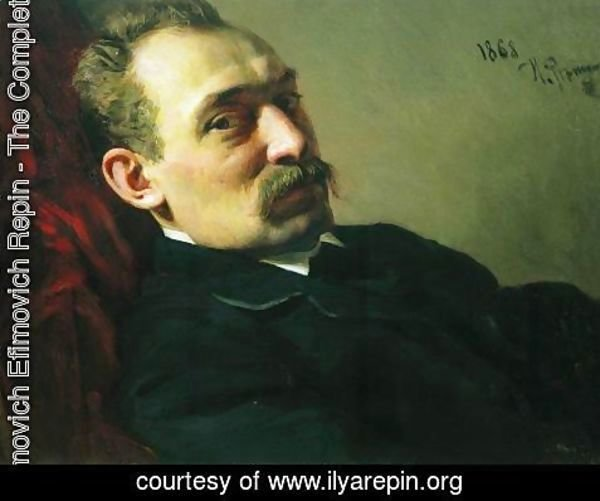 Ilya Efimovich Efimovich Repin - Portrait of the architect Philip Dmitrievich Hloboschin