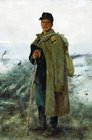 Ilya Efimovich Efimovich Repin - To his homeland. The hero of the last war