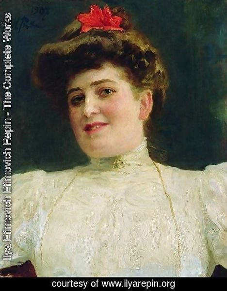 Ilya Efimovich Efimovich Repin - Portrait of a Woman (Olga Shoofs)