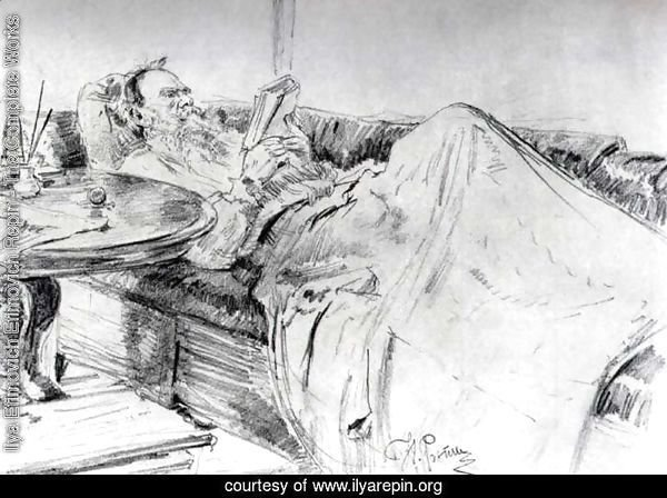 Lev Tolstoy reading